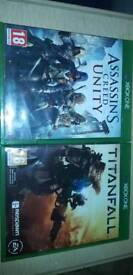 Xbox one assassins creed unity and titanfall