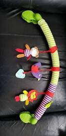 Baby soft pram toy Moses basket toy