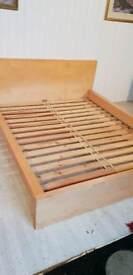 Ikea Malm Beech Kingsize Bed Frame