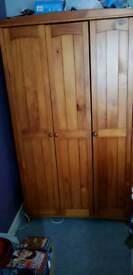 Wardrobe wooden triple