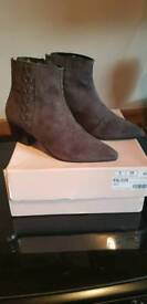 BRAND NEW NEXT SIGNATURE GREY SUEDE BOOT