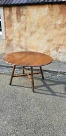 Ercol dark elm vintage dining table