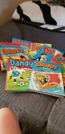 Vintage Beano and Dandy books