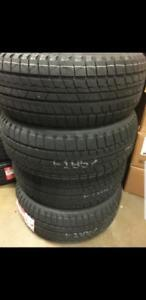 4 winter tires NEW with stickers 185/60r15 195/50r15  195/65r15