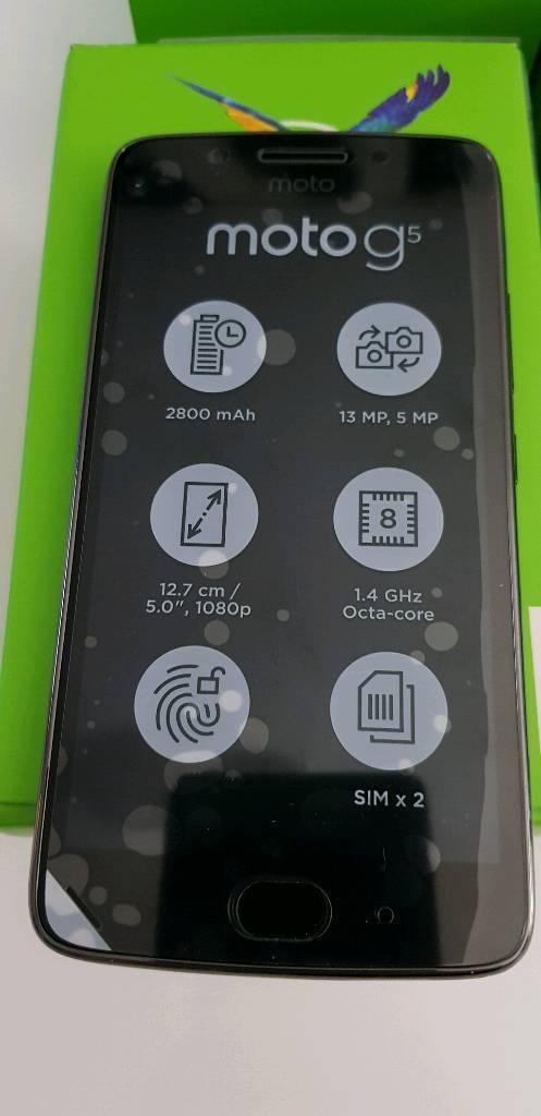 Motorola g5 16gb 3gb ram dual sim new