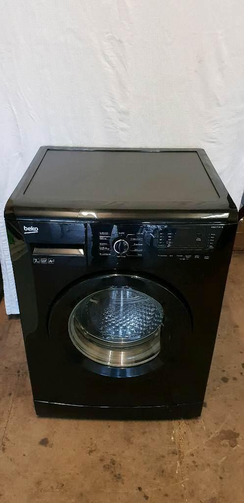 Black Beko Washing Machine 7Kg Good Condition 1200 Spin Speed A+ Energy Saving