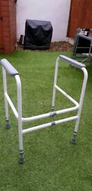 Toilet frame-height and width adjustable