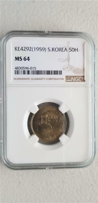 South Korea 50 Hwan 1959 NGC MS 64