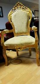 Lovely French style large high bage armchair. heavy and strong. Excellent condition