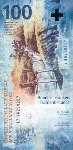 SWITZERLAND 100 FRANCS 2019 (2017) P-NEW UNC
