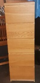 IKEA MALM Chest of draws (5 draws) very solid and sells for £90 new