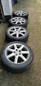 Civic 17' 5x114.3 alloys full set winter tyres