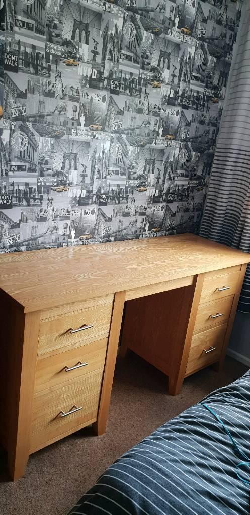 Dresser Desk And Matching Bedside Drawer
