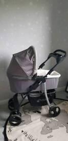 Hauck SLX travel system pram baby stroller