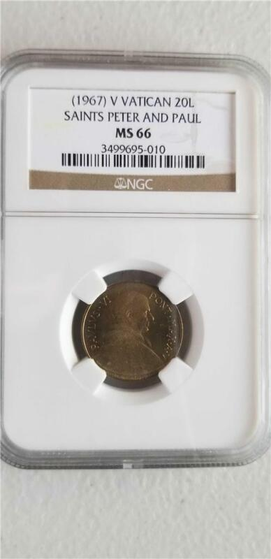 Vatican 20 Lire 1967 NGC MS 66