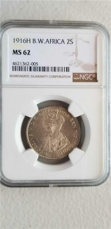 British West Africa 2 Shillings 1916H NGC MS 62