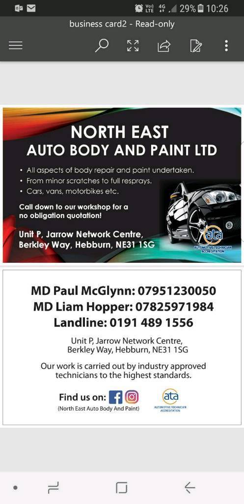 auto repair services . body and paint