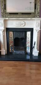 Cream fireplace and insert