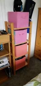 Pine shelves and boxs