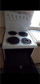 SLIM Oven, 4 ring hob and grill.