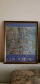 2 wooden picture frames with glass