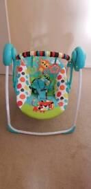 Self swinging baby swing