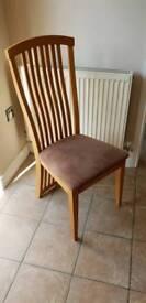 Wooden Table 4 Chairs retangular