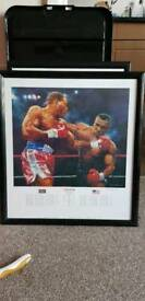 Limited Edition Signed & Framed Tyson- Bruno Lithograph