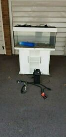 Juwel rio 180 litre fish tank and cabinet 3ft external filter