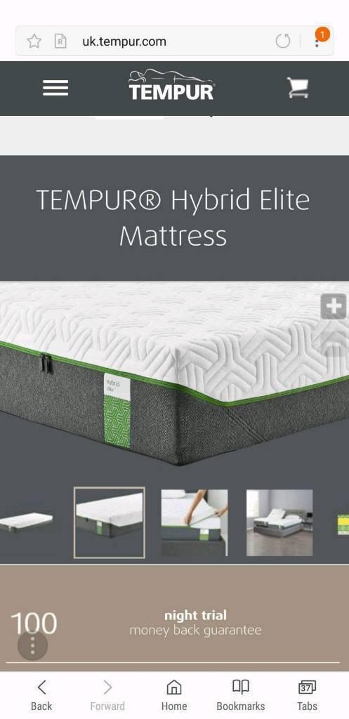 big sale 4ea76 aca05 Tempur Hybrid Elite 25cm memory foam double mattress. Rrp 2,229   in  Hornchurch, London   Gumtree