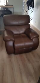 Brown leather Electric Arm Chair