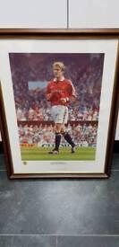 Manchester United David Beckham Framed print