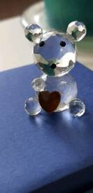 Swarovski Crystal Teddy bear with heart