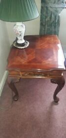 Matching Furniture Solid Wood Coffee Table & 2 Side Tables