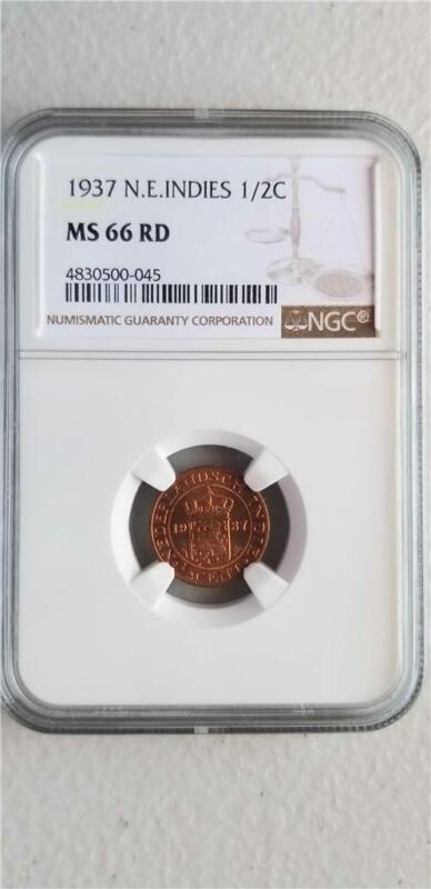 Netherlands East Indies 1/2 Cent 1937 NGC MS 66 RD