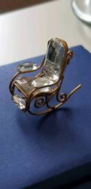 Swarovski Crystal memories rocking chair