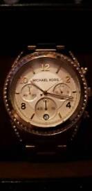 Ladies Gold Micheal Kors Watch