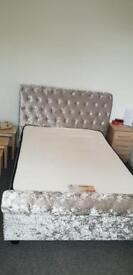 Velvet bed frame