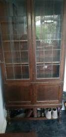 Vintage, bookcase, pantry, cupbaord