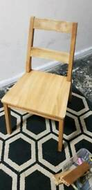 2 x Solid Oak Chairs