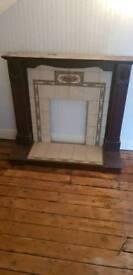 Gas fireplace surround