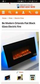 Wall mounted electric fire