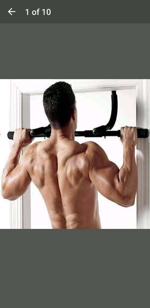 Hook on door pull up bar