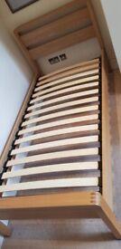 Beech wood single bed