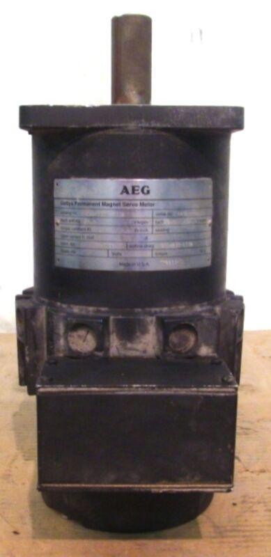 GETTYS AEG PERMANENT MAGNET SERVO MOTOR M233-H60A-300S, TACH 3.0V/KRPM