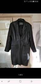 Ladies leather coat.