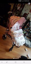 My babiee pushchair and pram set