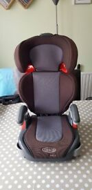 Graco car seat with removable back & side arms height Adjustment