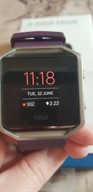 Fitbit blaze fully boxed - plum with size small band