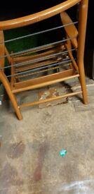 X2 vintage 60s wooden scandart frame chairs